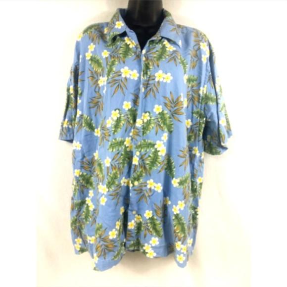 6694b32b9 Cutter & Buck Shirts | Cutter Buck Mens L Floral Button Hawaiian ...